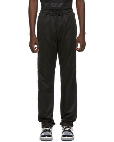 Черные трикотажные брюки дудочки с карманами Fendi