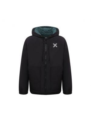 Черная куртка двусторонняя Kenzo