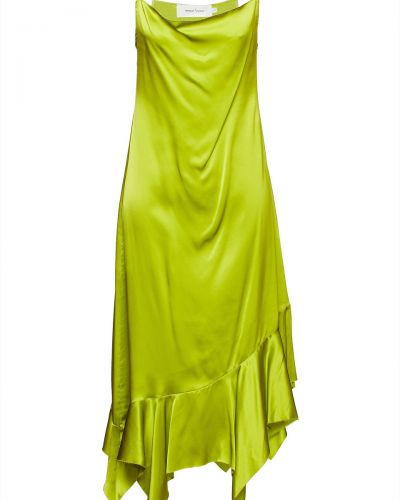 Sukienka asymetryczna - zielona Marques Almeida