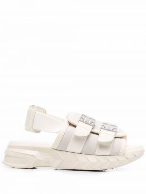 Sandały skórzane - beżowe Givenchy
