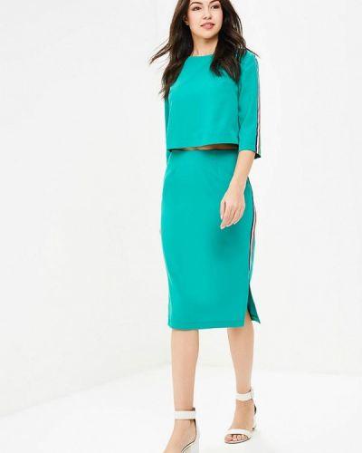 Зеленый юбочный костюм Anastastia Kovall