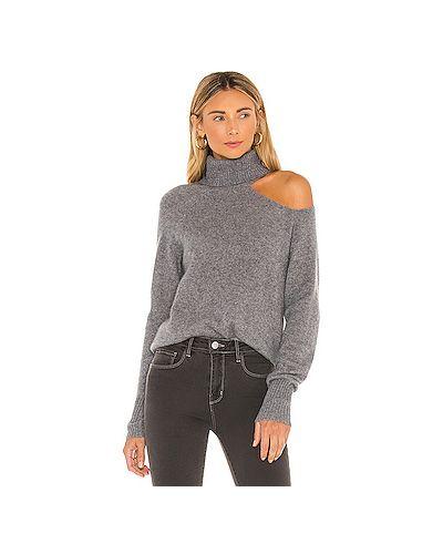 Кашемировый серый свитер с вырезом Skin