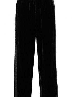Шелковые черные брюки с накладными карманами Sleepy Jones