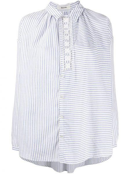Рубашка в полоску - белая Zucca