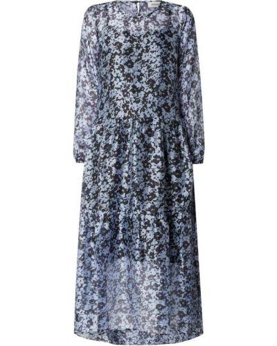 Sukienka midi - niebieska Modström