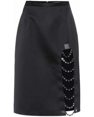 Кожаная юбка юбка-колокол пачка Christopher Kane