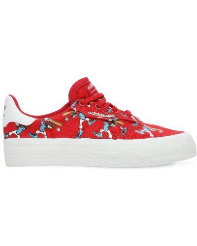 Ażurowy brezentowy sneakersy na sznurowadłach Adidas Originals