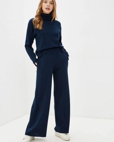 Костюмный синий вязаный костюм Sewel