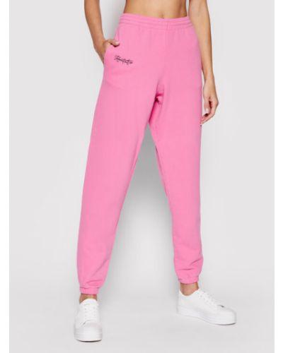 Różowe spodnie dresowe Kontatto