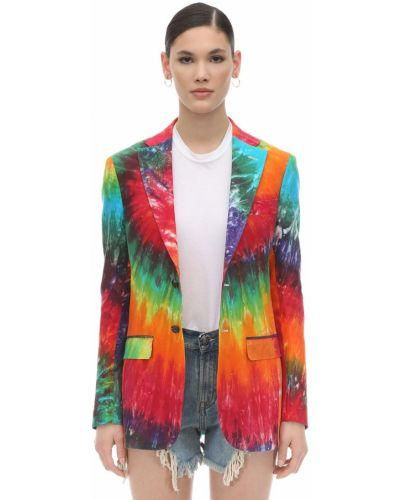 Льняная куртка с карманами с отворотом R13