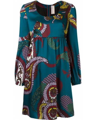 Платье с цветочным принтом синее Antonio Marras