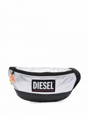 Czarny pasek z paskiem Diesel
