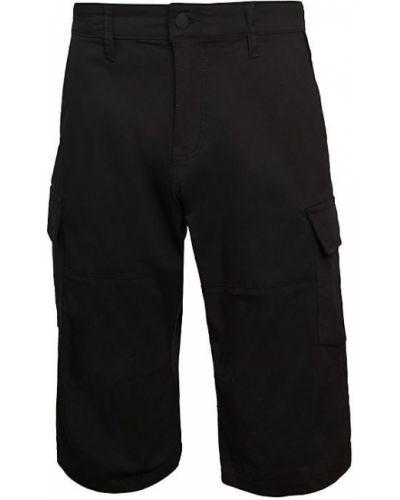Czarne szorty cargo bawełniane z paskiem Projek Raw