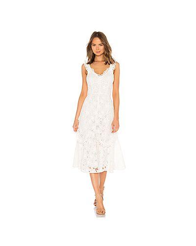 Платье с оборками на шнуровке Rebecca Taylor