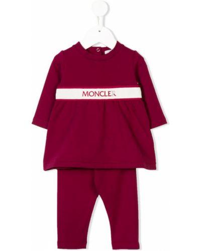 Спортивный костюм красный эластичный Moncler Kids