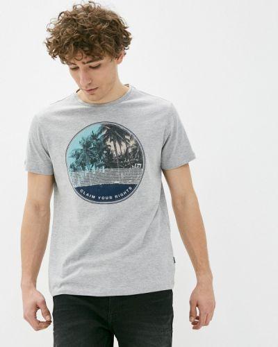 Серая футболка с короткими рукавами Blend