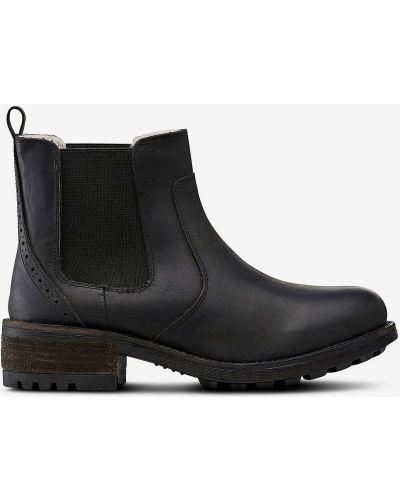 Кожаные ботинки - черные Ellos