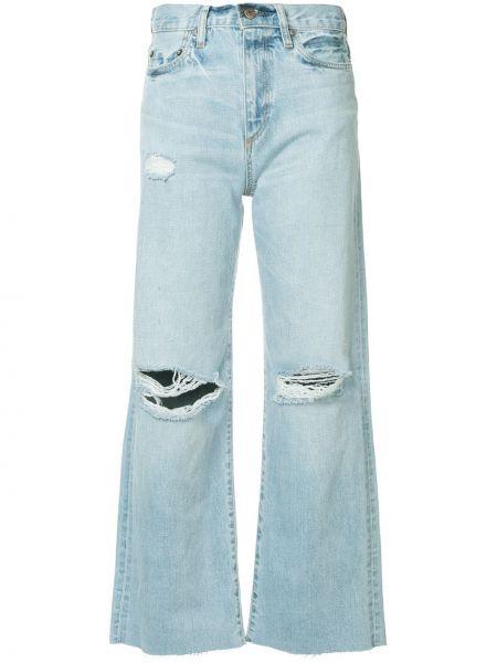 Укороченные рваные джинсы клеш классические Simon Miller