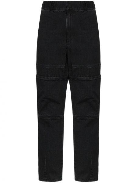 Czarne jeansy bawełniane na plażę Ambush
