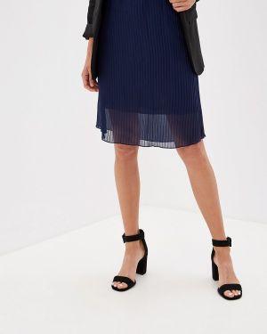 Плиссированная юбка синяя Olesya Zubova