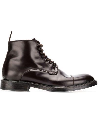 Кожаные ботинки на шнуровке зеленый Green George