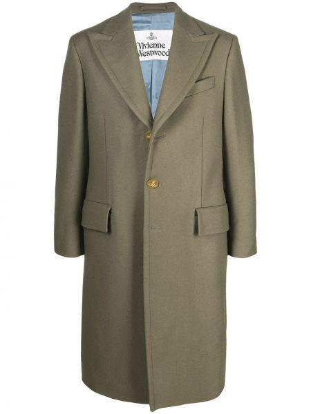 Zielony z rękawami długo płaszcz z kieszeniami z wiskozy Vivienne Westwood