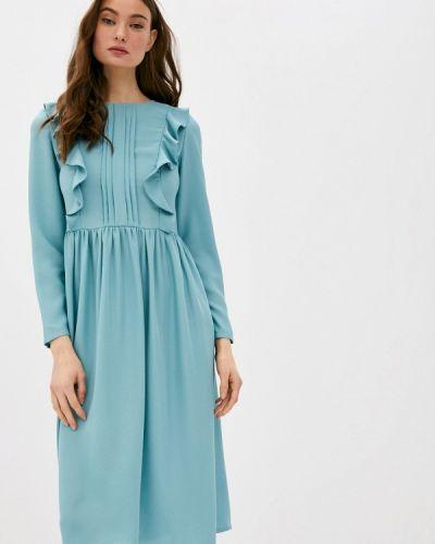 Бирюзовое прямое платье А-силуэта M,a,k You Are Beautiful