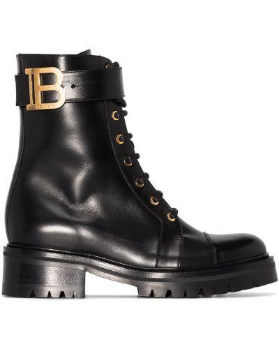 Кожаные ботинки - черные Balmain