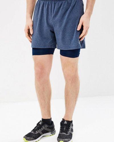 Синие спортивные шорты Reebok