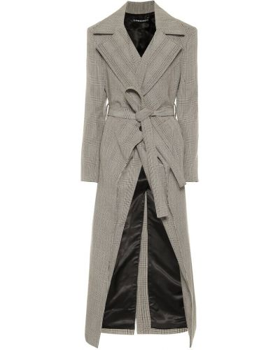 Серое шерстяное пальто Y/project
