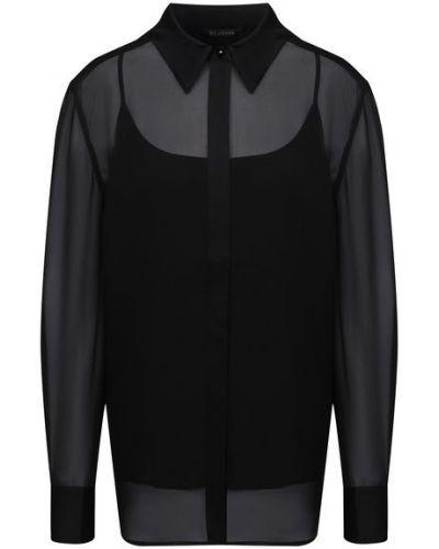 Шелковая блузка с подкладкой St. John