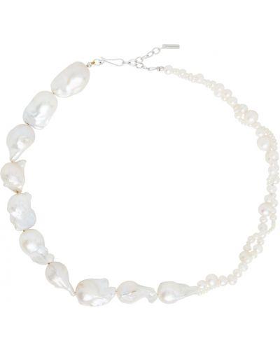 Серебряное ожерелье с жемчугом Completedworks