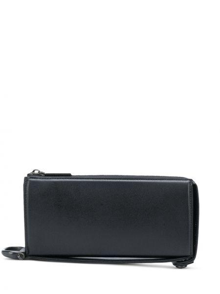Кожаный черный кошелек с карманами на молнии Discord Yohji Yamamoto