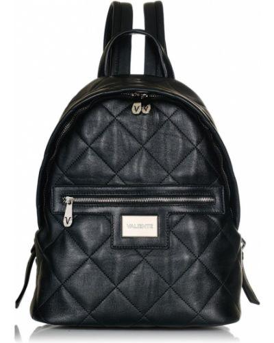 Кожаный рюкзак - черный Valiente