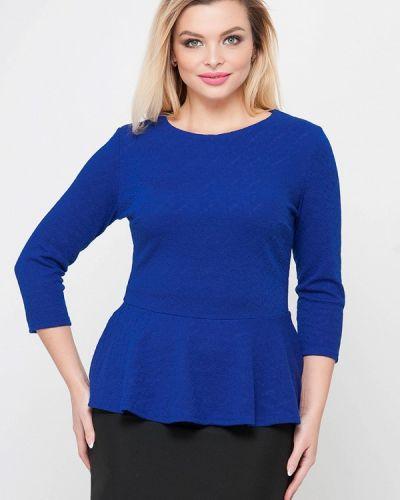 Блузка осенняя синяя Лимонти