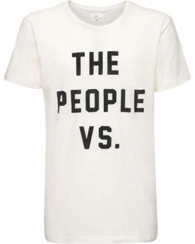 Biały t-shirt bawełniany The People Vs