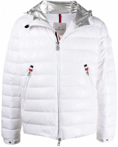 Biała kurtka puchowa pikowana oversize Moncler
