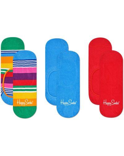 Колготки однотонные с узором Happy Socks