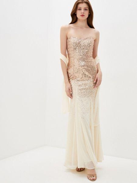 Вечернее платье - бежевое Goddiva