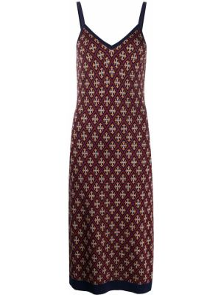 Платье миди на бретелях в рубчик Temperley London