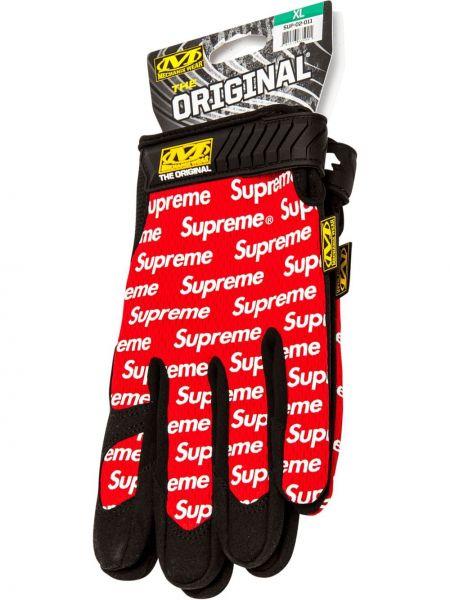 Перчатки нейлоновые красный Supreme