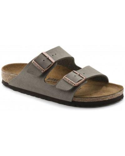 Sandały w paski - szare Birkenstock