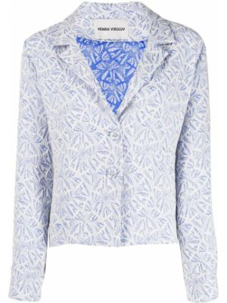 Синий пиджак с манжетами Henrik Vibskov