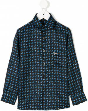Шелковая рубашка Stefano Ricci Kids