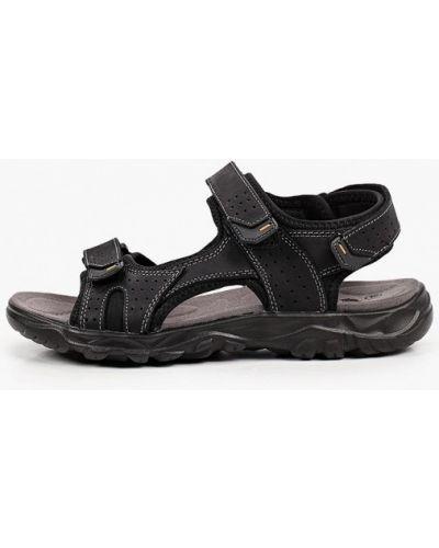 Черные кожаные сандалии Patrol