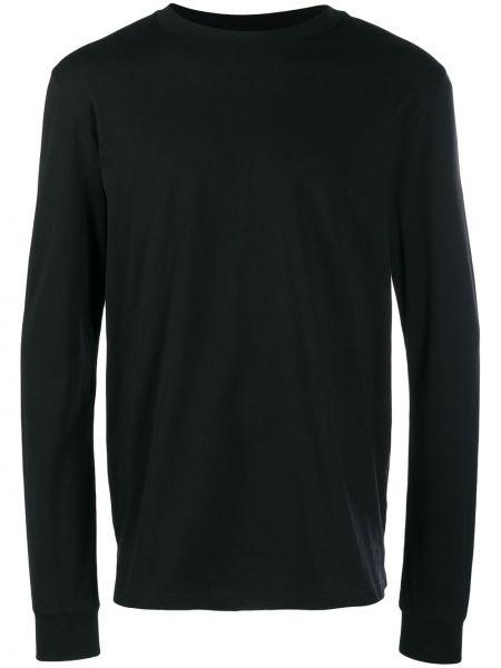 Czarna bluza z długimi rękawami bawełniana Cottweiler