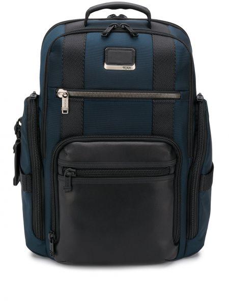 Niebieski plecak skórzany Tumi