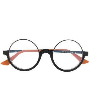 Черные очки для зрения круглые металлические Marni Eyewear