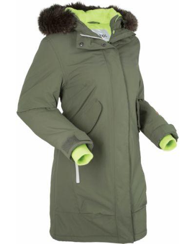 Куртка с капюшоном с карманами на молнии Bonprix