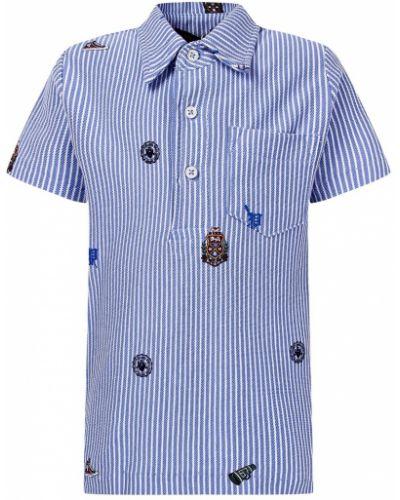Поло с карманами голубой Polo Ralph Lauren Kids
